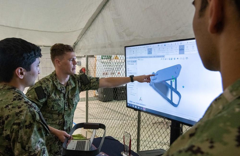 USNA interns 3D model a ship hatch for a robotics obstacle course
