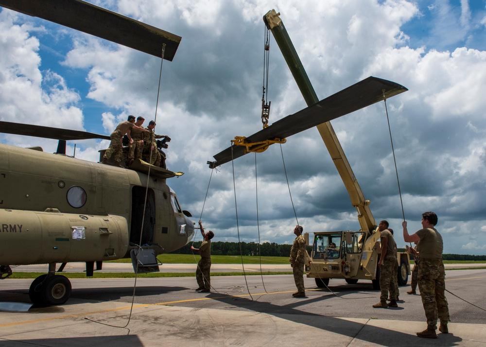 Chinooks Take Flight at SJAFB