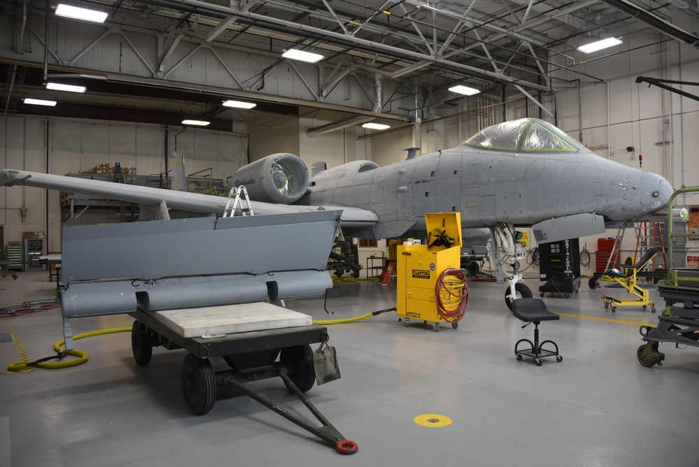 Indiana ANG A-10 ready for paint