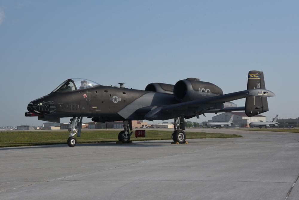 Indiana ANG black and grey A-10