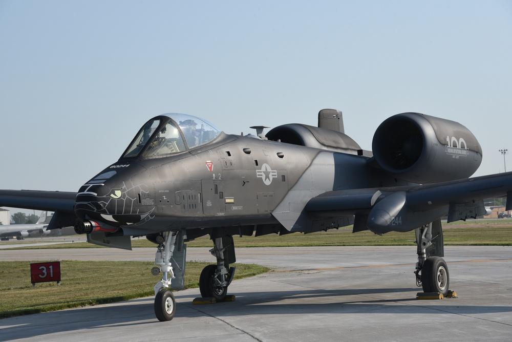 Black and grey A-10 Indiana ANG