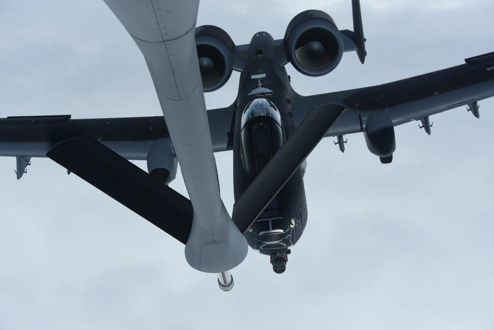 Blacksnake A-10 flying