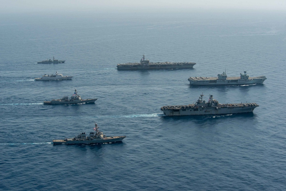 USS Ronald Reagan (CVN 76) Underway Operations with UK Carrier Strike Group 21