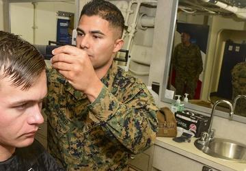 USS John P. Murtha (LPD 26) Barber Shop