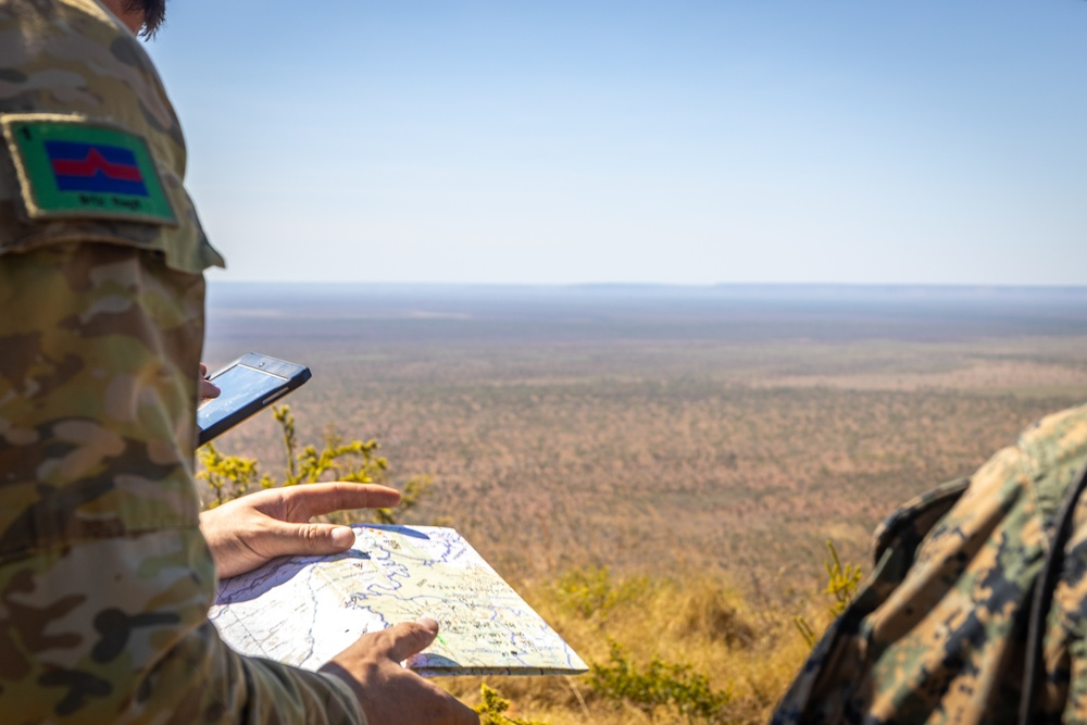 MRF-D conducts a site survey at Bradshaw Field Training Area