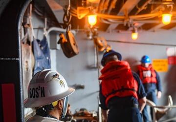 USS Carl Vinson (CVN 70) Conducts A Replenishment-At-Sea