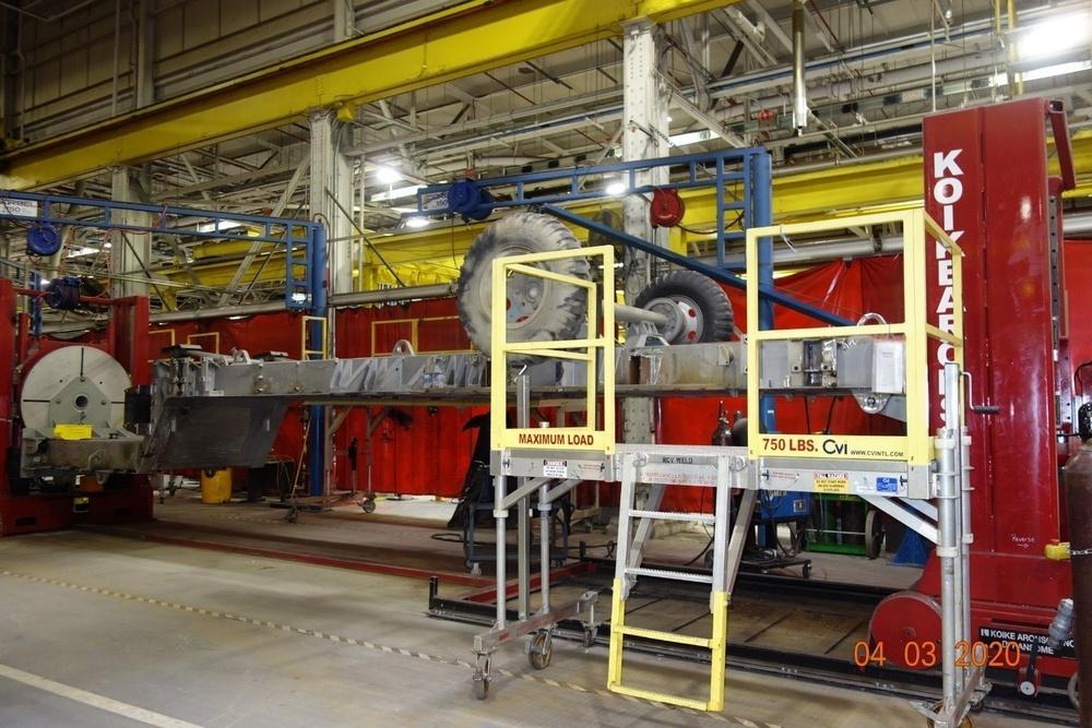 Weld positioner innovation at Letterkenny Army Depot