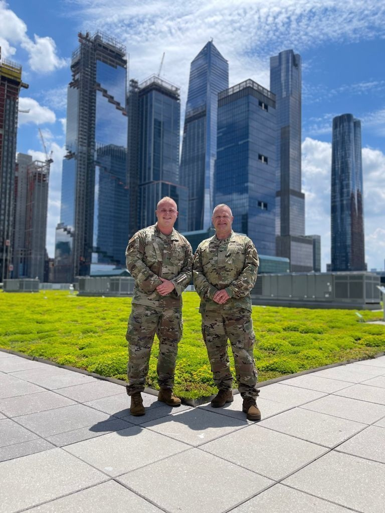 Father and Son Serve Guardsmen serve together on COVID-19 Operation