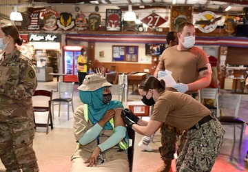 Camp Lemonnier Gives Contract Employees COVID Vaccines