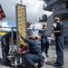 GHWB Sailors Work on Flight Deck