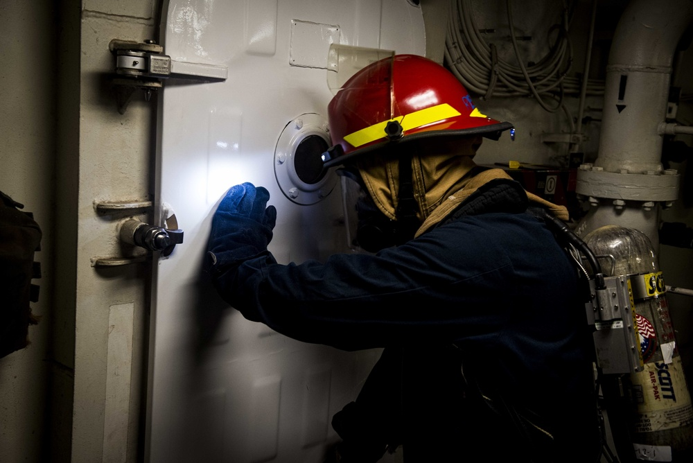 GHWB Sailors Conduct Damage Control Crew Certification