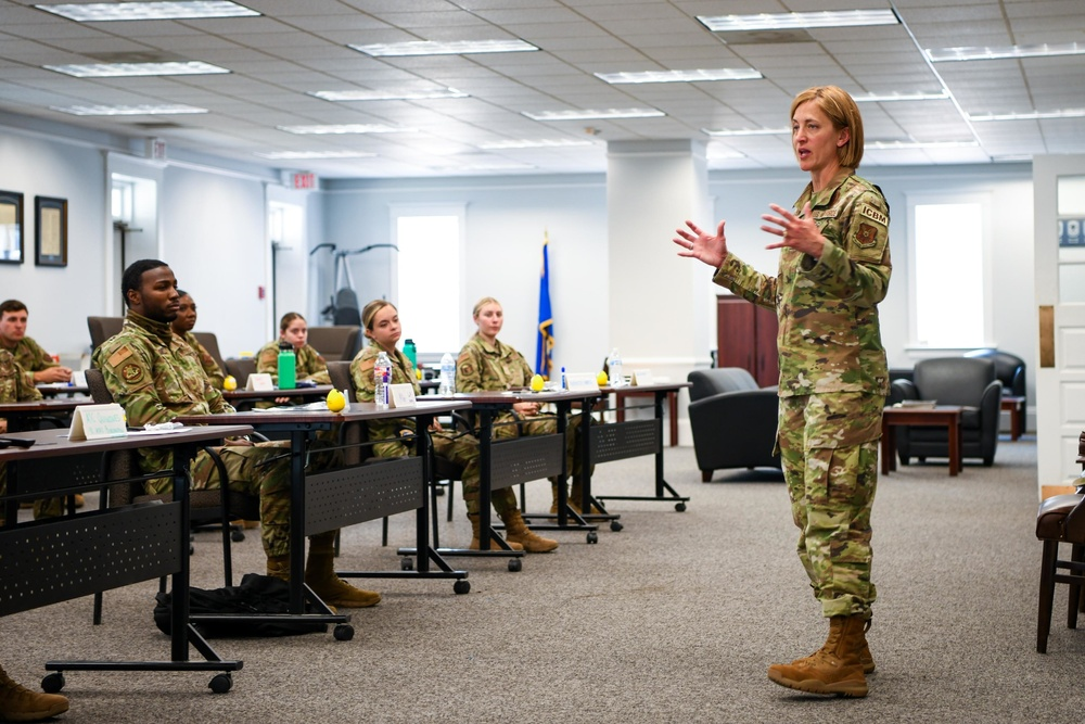 Commander's Brief at the First Term Airmen Center