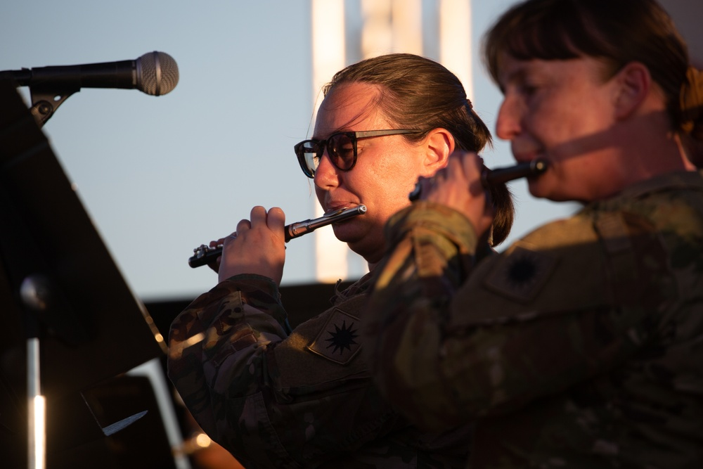 40th ID Band performs during July 4 Fireworks Spectacular