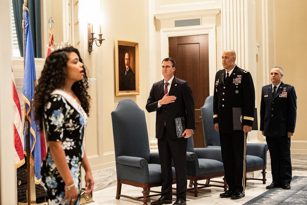 Former 137th vice commander promotes to brigadier general