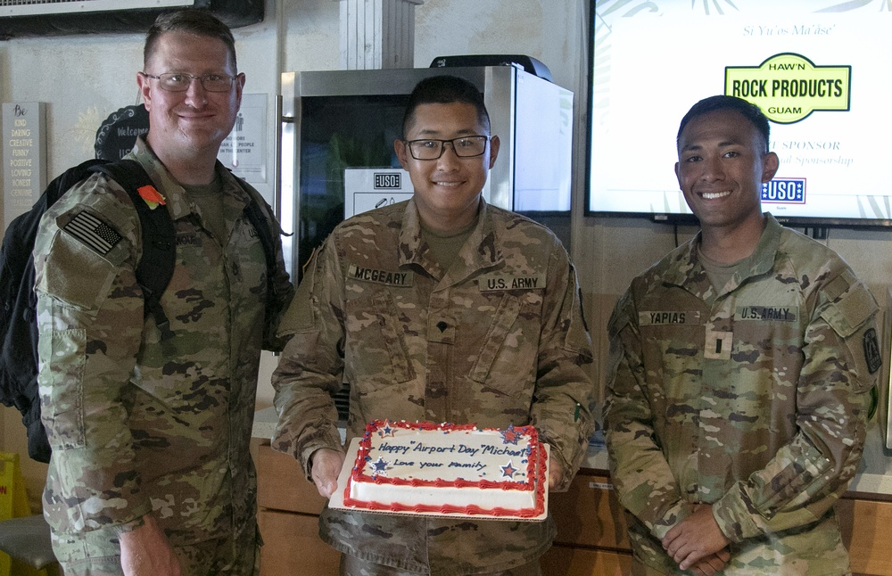 Soldier Receives Cake on his Adoption Anniversary at Forager 21