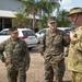 Chief of the Australian Army Lt. Gen. Richard Burr tours MRF-D working spaces