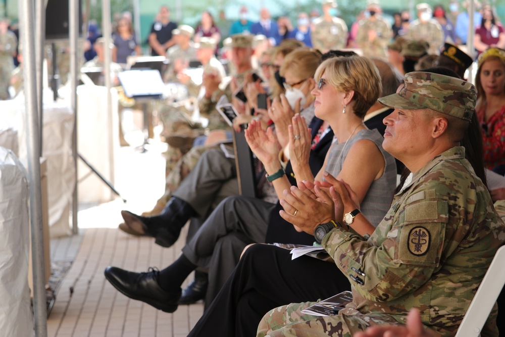 WBAMC Dedication Ceremony: Crowd Cheering