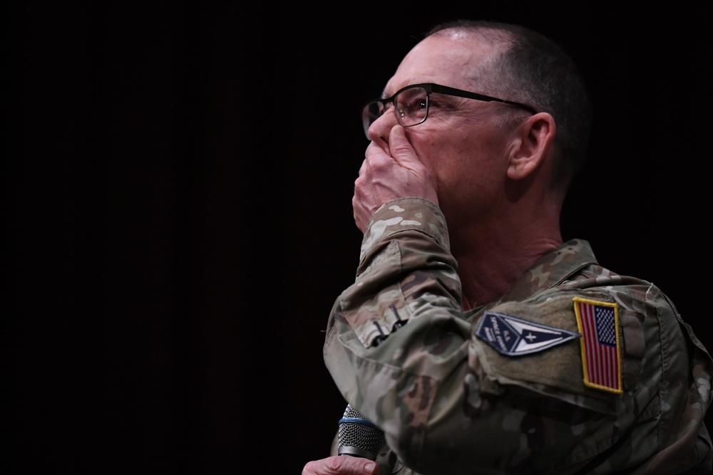 Chief Towberman speaks at Gunter's SNCOA