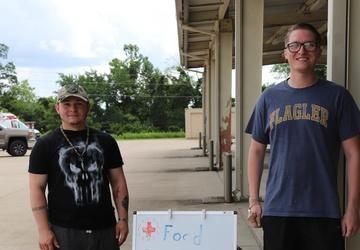 Victory Soldiers Volunteer at Red Cross Food Pantry