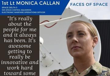 Faces of Space: 1st Lt. Monica Callan