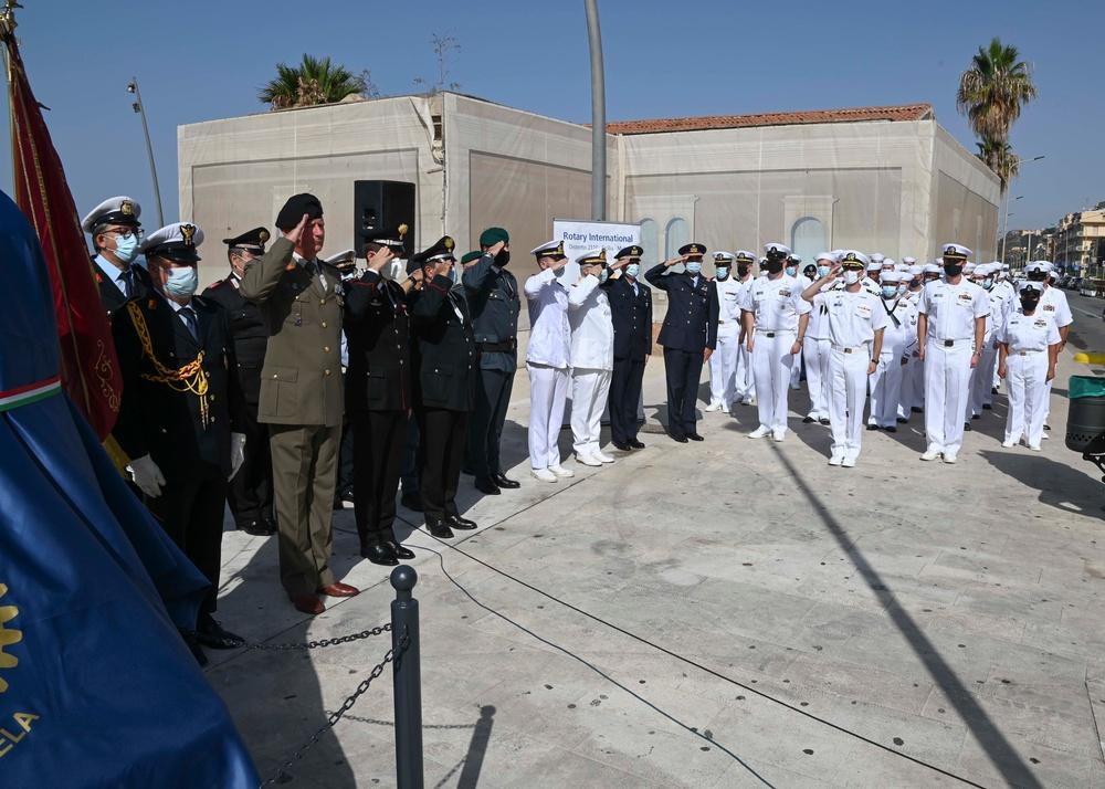 Sailors Participate in Operation Husky Memorial