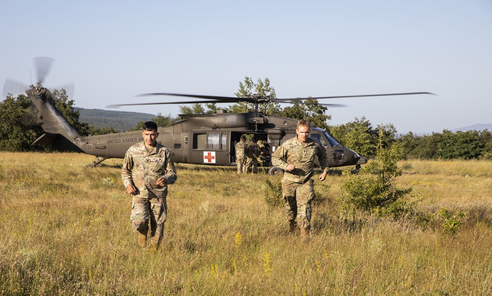 MEDEVAC training demonstrates ability to save lives and execute the mission amongst the United States and their NATO allied nations