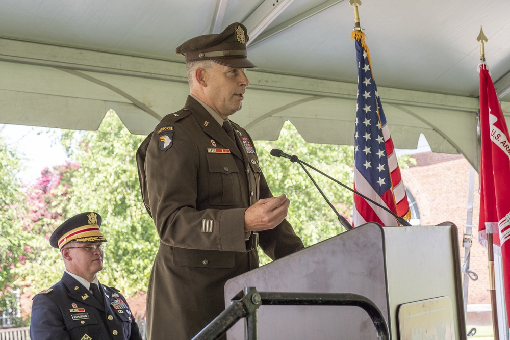 USACE Baltimore District Change of Command