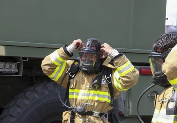 Army Reserve Firefighters Conduct Burn Scenario