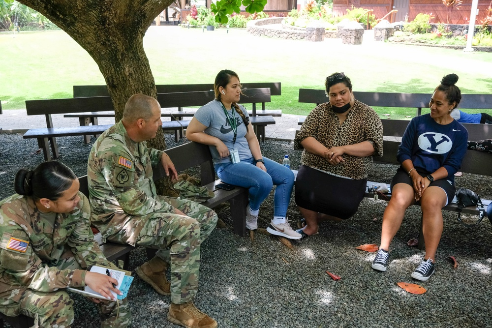 Task Force Oceania Pacific Augmentation Team-Tonga Learns from Tongan BYU-Hawaii Students
