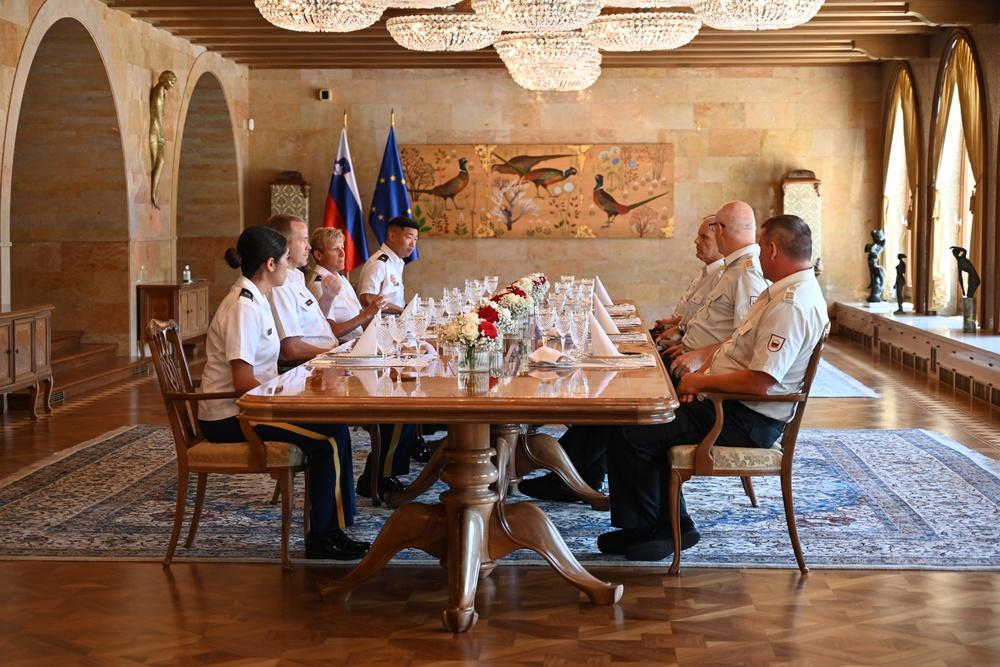 Meeting with Major General Glavaš, Slovenian Chief of Defense