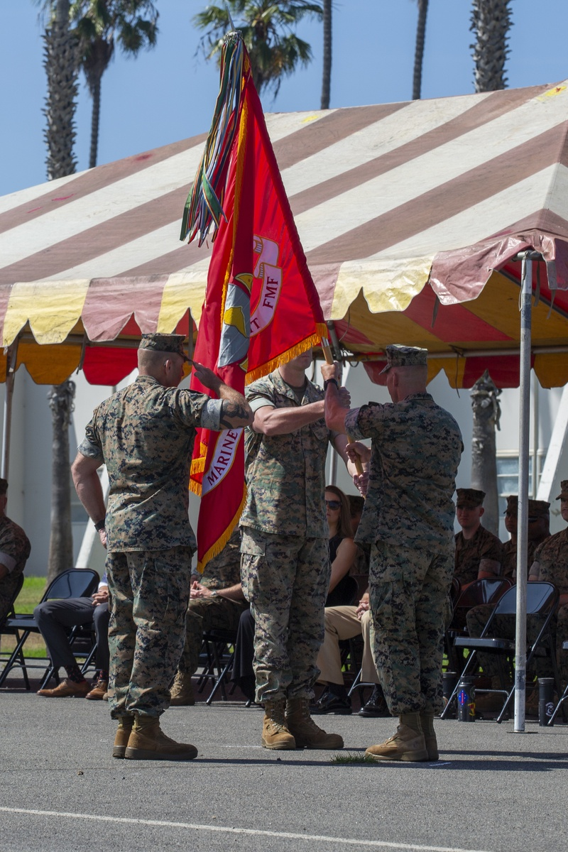 15th MEU Marines conduct Change of Command ceremony
