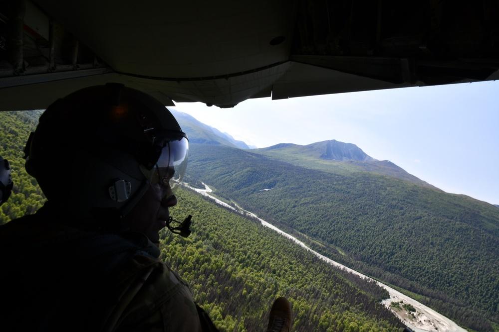 Flying Jennies train in Alaska