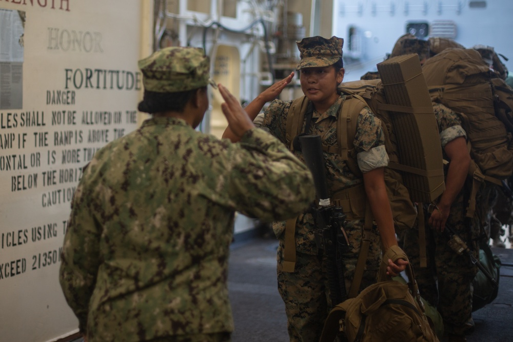 Marines and Sailors Arrive at Naval Station Norfolk for Destructive Weather Mission Rehearsals