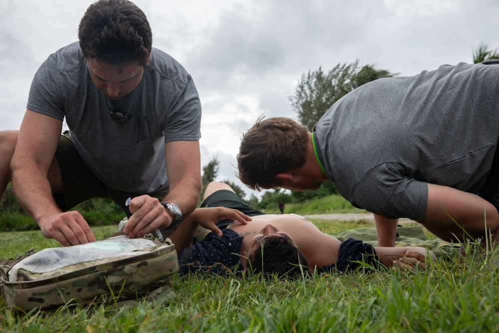 Exercise Forager 21: 1st SFG (A) Special Forces Soldiers treat casualties
