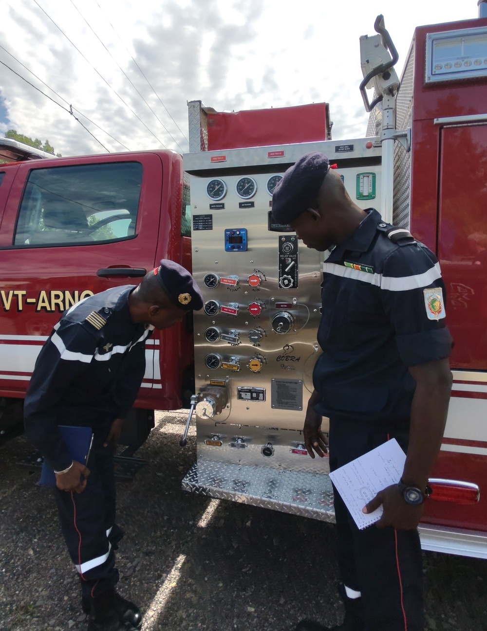 Team from Senegal's National Fire Brigade in Vermont for emergency capability demonstrations