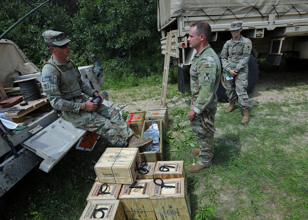 469th Engineer Company Soldiers explode into action