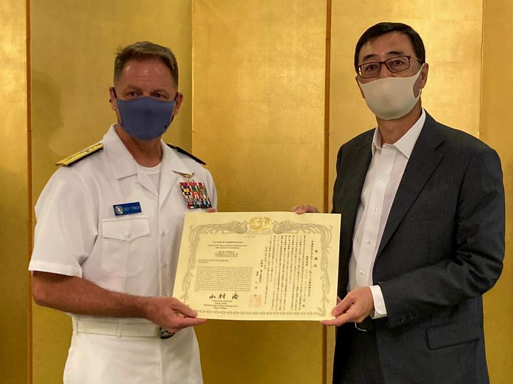 JMSDF Awards Tynch for Commitment to Working Together