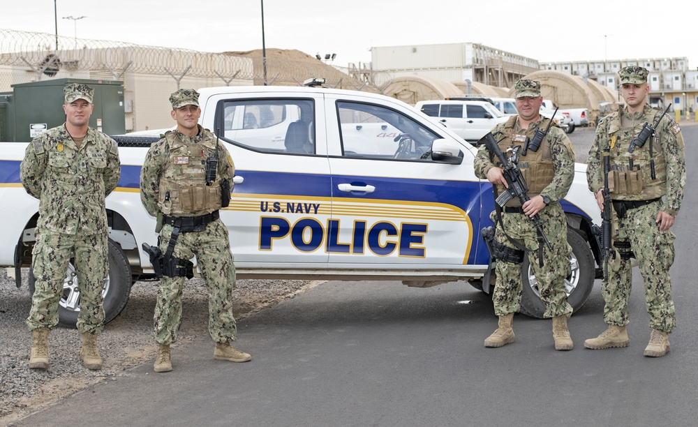 Camp Lemonnier Master-at-Arms Who Serve as New York Policemen Group Shot