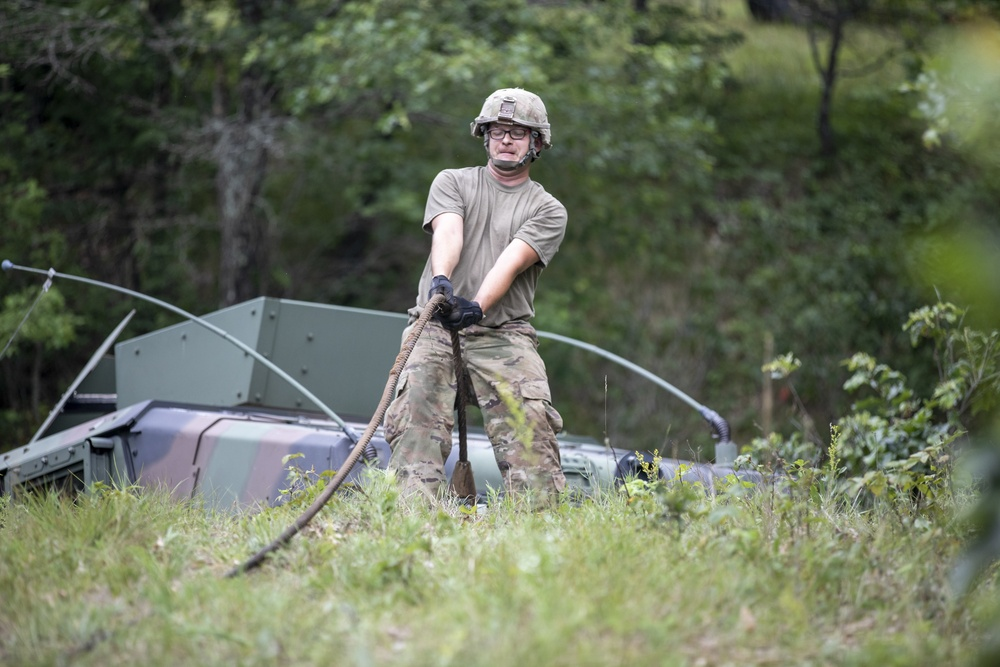 303rd MP Company mobility support operations training
