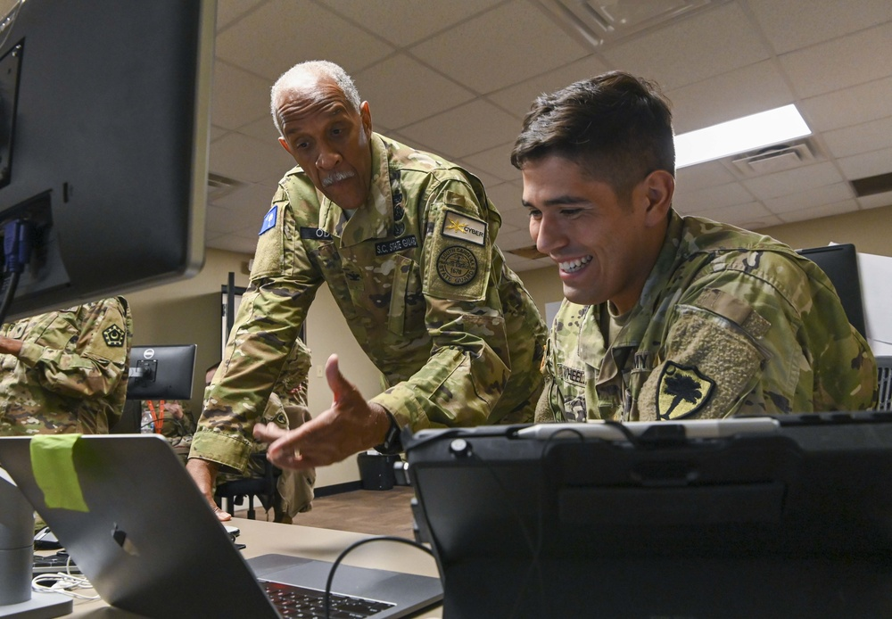 South Carolina National Guard Soldiers participate in Department of Defense cyber defense exercise