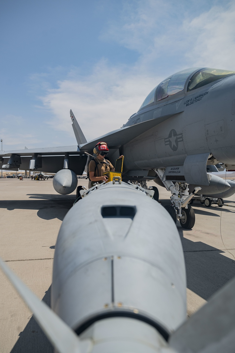 The U.S. Navy supports Red Flag 21-3 at Nellis AFB