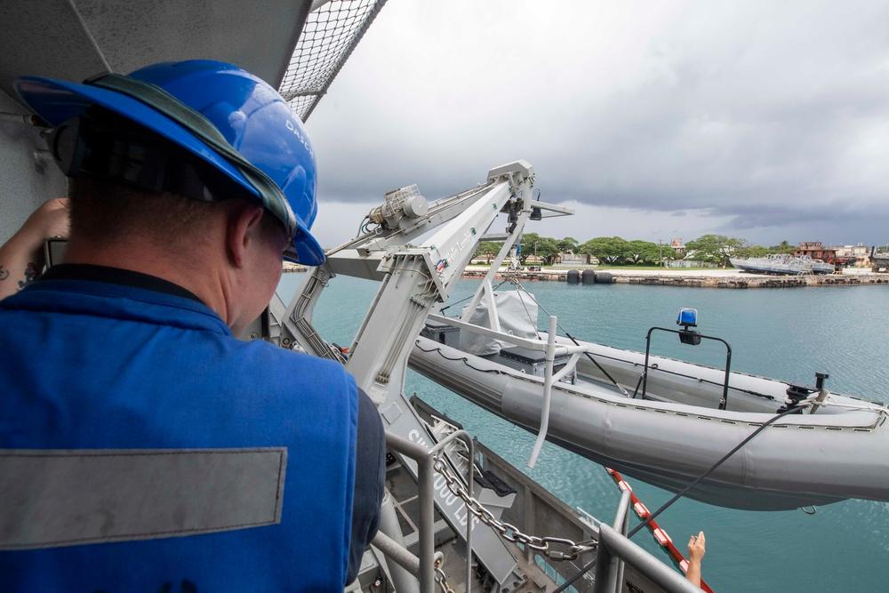 Boat Operations Aboard USS Charleston (LCS 18)