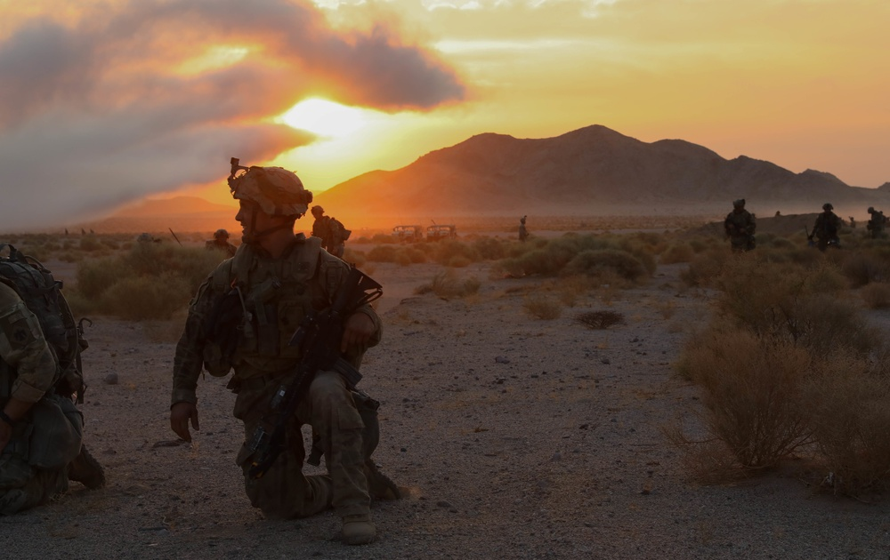 Oklahoma National Guards light infantry are the first to attend NTC in 10+ years.