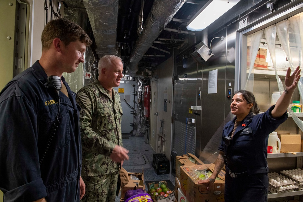 Chief of Staff, Naval Surface Group MIDPAC tours littoral combat ship USS Jackson (LCS 6)