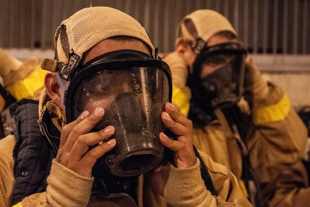 210714-N-NO485-0062 NEWPORT, R.I. (July 14, 2021) OCS class 15-21 fire fighting training