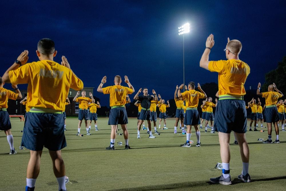 210719-N-NO485-0009 NEWPORT, R.I. (July 19, 2021) OCS physical fitness assessment