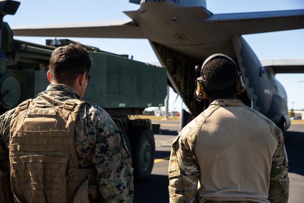U.S. Marines and Air Force conduct HIRAIN during exercise Talisman Sabre 21