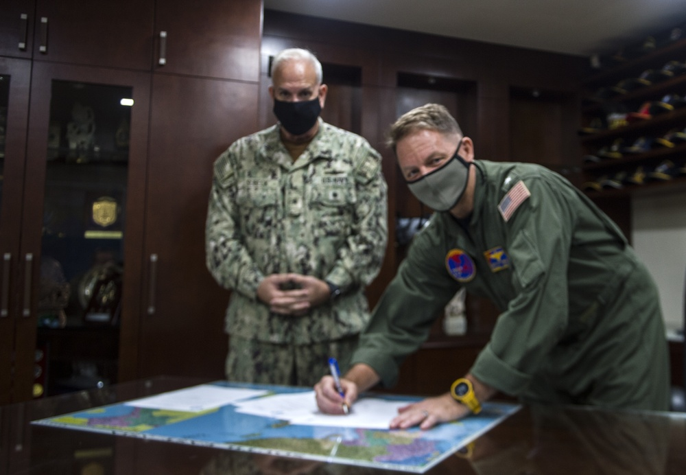 COMLOG WESTPAC/CTF 73 Holds Change of Command