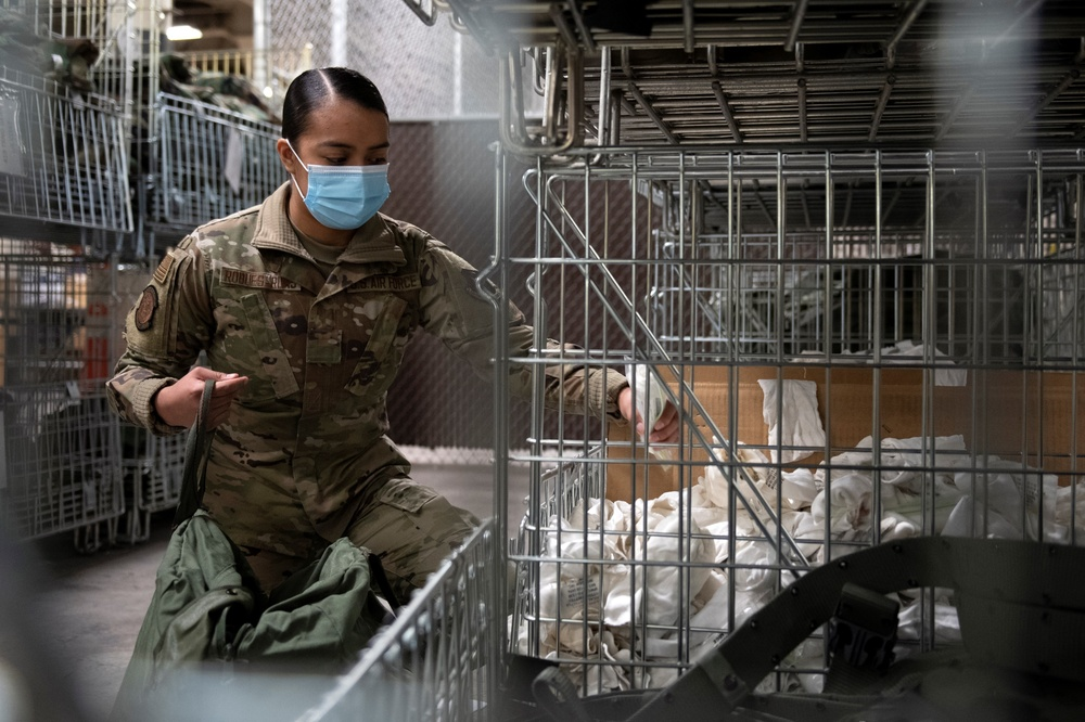 Senior Airman Genesis Robles-Rivas, a materiel manager in the 419th Logistics Readiness Squadron