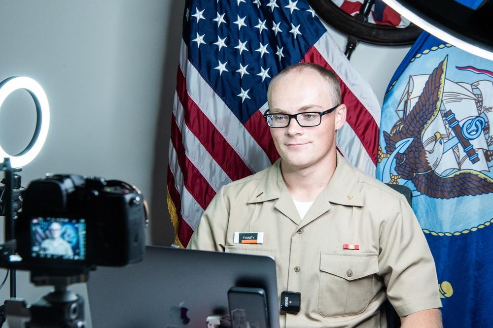 210726-N-TE695-0001 NEWPORT, R.I. (July 26, 2021) OCS Hometown Heroes live interview